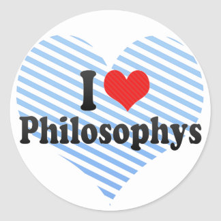 I Love Philosophys Stickers