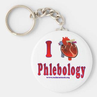 I Love Phlebology Keychains