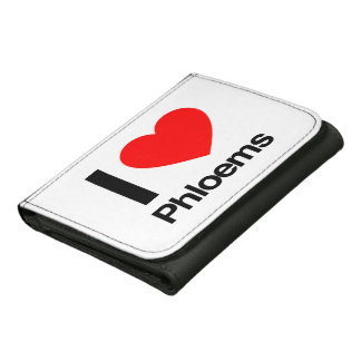 i love phloems leather trifold wallets