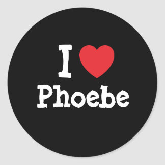 I love Phoebe heart T-Shirt Classic Round Sticker