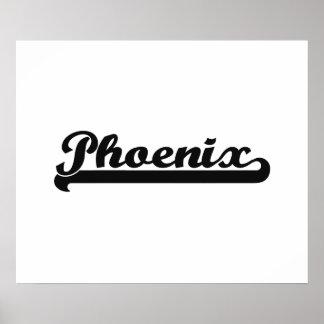 I love Phoenix Arizona Classic Design Poster