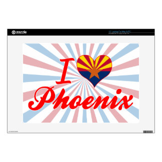 "I Love Phoenix, Arizona Skin For 15"" Laptop"