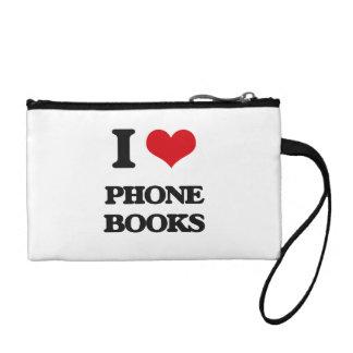 I Love Phone Books Change Purse