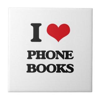 I Love Phone Books Tiles