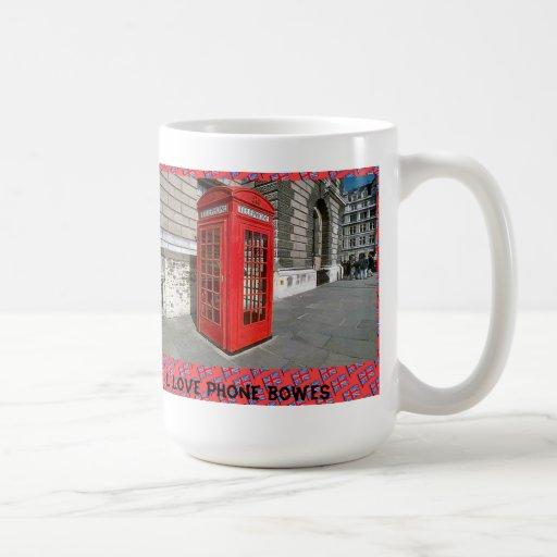 I love phone boxes classic white coffee mug