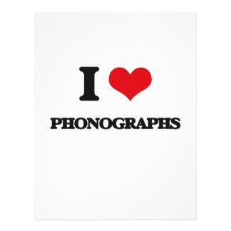 I Love Phonographs Flyer Design