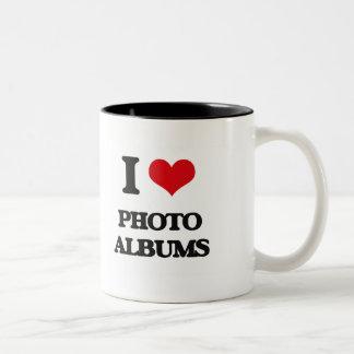 I Love Photo Albums Two-Tone Coffee Mug