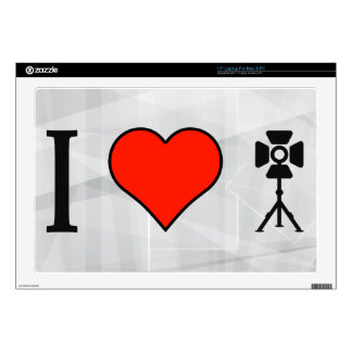 I Love Photo Icons Laptop Skin
