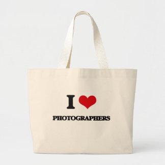 I Love Photographers Canvas Bag