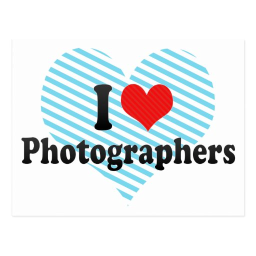 I Love Photographers Postcard