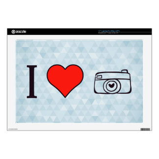 """I Love Photographic Cameras 17"""" Laptop Decal"""