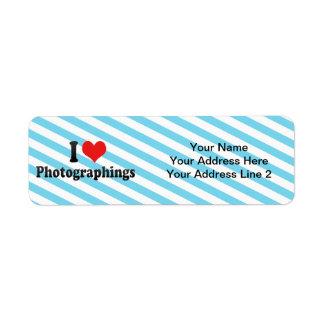 I Love Photographings Return Address Label