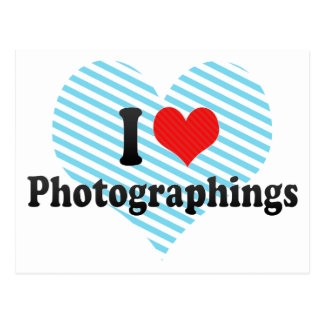 I Love Photographings Postcards