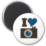 I Love Photography 2 Inch Round Magnet