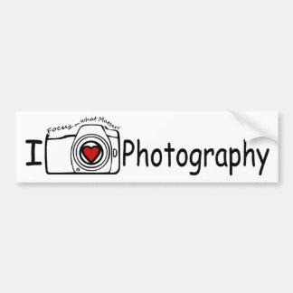I Love Photography Bumper Sticker