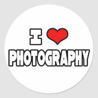 I Love Photography Classic Round Sticker
