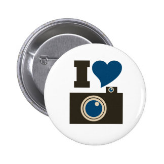 I Love Photography for Women Pinback Buttons