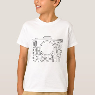 I Love Photography Great Camera Gift T-Shirt
