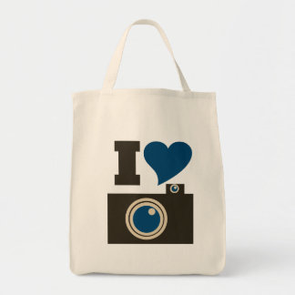 I Love Photography Grocery Tote Bag