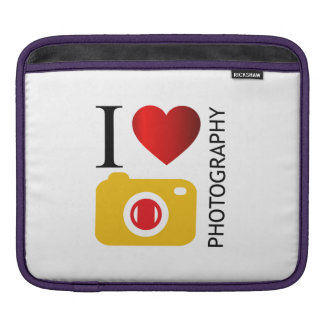 I love photography iPad sleeve