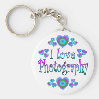 I Love Photography Keychains