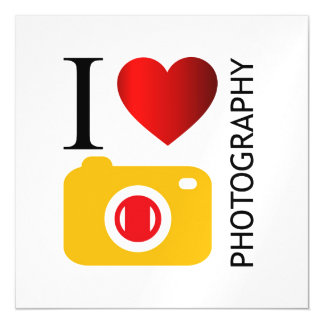 I love photography magnetic card