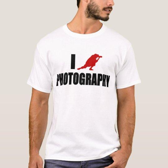 I Love Photography (Modern Version) T-Shirt