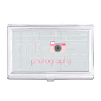 I Love Photography Case For Business Cards