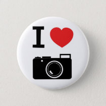 I love photography pinback button