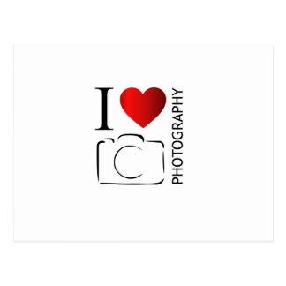 I love photography postcard