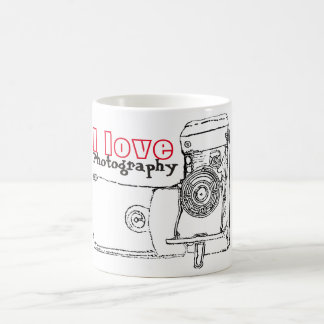 I Love Photography Retro Camera Coffee Mug