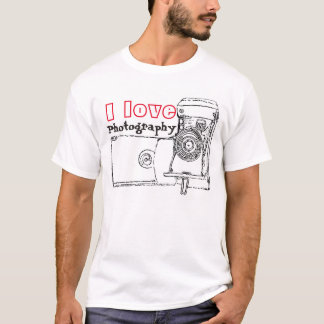 I Love Photography Retro Camera T-Shirt