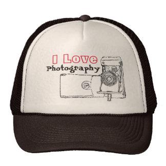 I Love Photography Retro Camera Trucker Hat