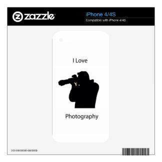 I Love photography Skin For The iPhone 4S