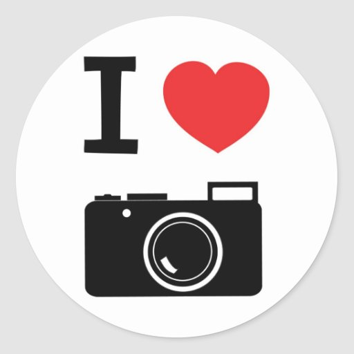 I Love Photography Stickers
