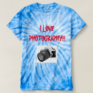 I LOVE PHOTOGRAPHY TIE DIED T-Shirt