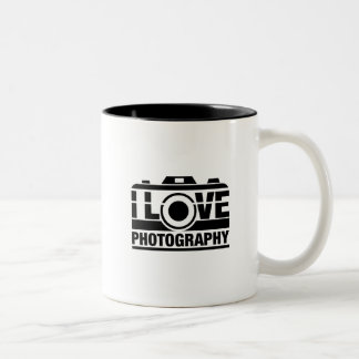 I Love Photography Two-Tone Coffee Mug