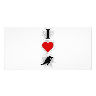 I Love Photography Urban Style (Vertical) Custom Photo Card