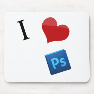 I Love Photoshop Mouse Pad