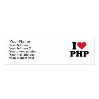I love php Double-Sided mini business cards (Pack of 20)