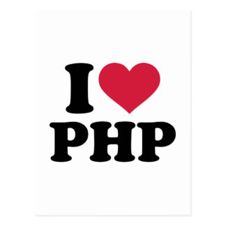 I love php postcard