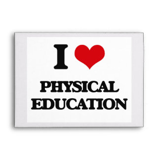 I Love Physical Education Envelope