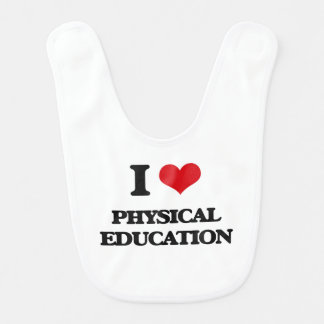 I Love Physical Education Baby Bibs