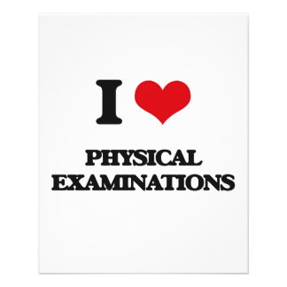 """I Love Physical Examinations 4.5"""" X 5.6"""" Flyer"""