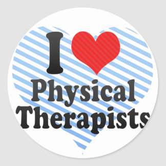 I Love Physical Therapists Stickers