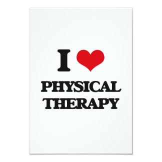 I Love Physical Therapy 3.5x5 Paper Invitation Card
