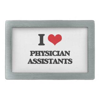 I love Physician Assistants Rectangular Belt Buckles