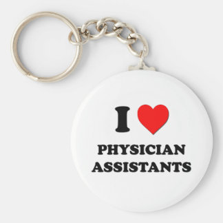 I Love Physician Assistants Keychain