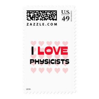 I LOVE PHYSICISTS POSTAGE STAMP