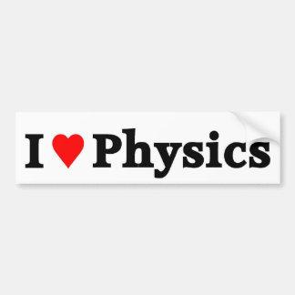 I love Physics Car Bumper Sticker